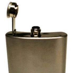 Garrafa Cantil Porta Whisky de Bolso em Inox para Bebidas 4Oz (120ml)