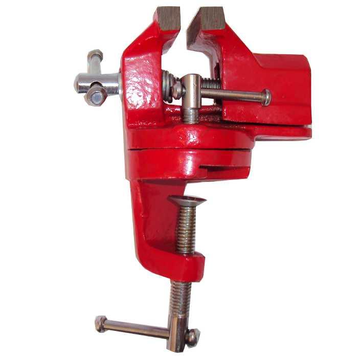Mini Torno / Morsa de Bancada Base Giratória 60mm