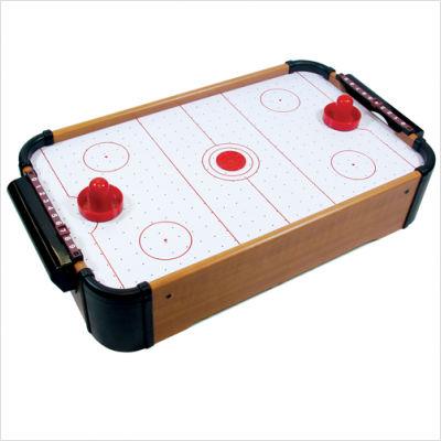 Mini Mesa de Hockey de Ar em Madeira 51x31x10cm Riomaster FY2968