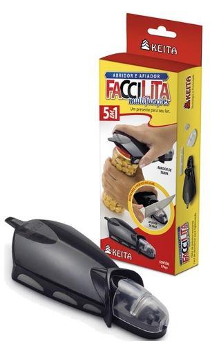 Abridor de Tampas de Rosca, Lacre a Vácuo e Long Neck com Afiador de Facas - Faccilita - Keita - FAC01