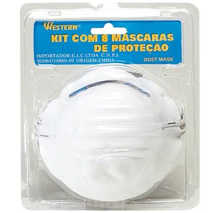 Máscara de Conforto Semi Facial Embalagem com 8 Unidades Equipamento de Proteção Individual (EPI) - Western - 1606
