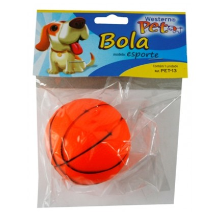 Brinquedo para Cachorro e Gato Mordedor Bolinha Esporte Western PET-13