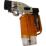 Mini Maçarico Portátil Recarregável a Gás Butano com Botão de Acendimento Automático Western 6000