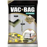 Kit Sacos a Vácuo Vac Bag 4 Médios e 1 Bomba Sacos Para Armazenamento de Roupas Ordene OR56300