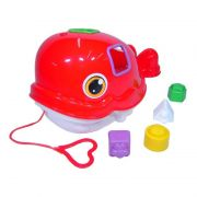 Baleia Didática Colorida com Blocos Geométricos de Encaixar Mercado Toys 280
