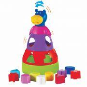 Hipopótamo Didático Colorido com Blocos Geométricos de Encaixar Mercado Toys 297