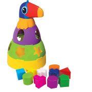 Tucano Didático Colorido com Blocos Geométricos de Encaixar Mercado Toys 296