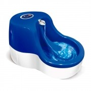 Fonte Bebedouro para Gatos Água Corrente Azul 110V Furacão Pet 0233