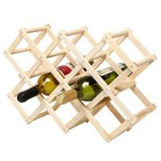 Adega Suporte para Vinhos para 8 Garrafas em Madeira TRC8098