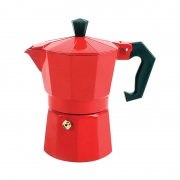 Cafeteira Italiana Colorida 3 Xícaras 150ml Vermelha AG6150