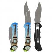 Canivete Dobrável Aço Inox com Clip de Bolso para Camping Caça e Pesca Western YG09