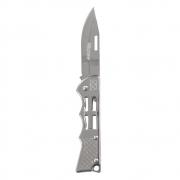 Canivete Dobrável Aço Inox com Passador de Fiel para Camping Caça e Pesca Western YG04
