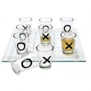 Jogo da Velha com Copos de Bebida Shot 12,5x12,5cm XO-03