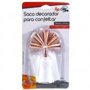 Kit 6 Bicos de Confeitar e Saco de Confeiteiro com Adaptador Rose Gold TRC8165