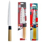 Kit Faca Sushi Sashimi Tipo Japonesa Santoku 7 Peixe 9 e Cozinha 5