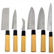 Kit Faca Sushi Sashimi Tipo Japonesa Santoku Peixe Legumes e Cozinha KITHAUFACJAP001