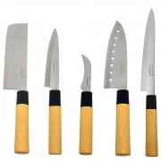 Kit Faca Sushi Sashimi Tipo Japonesa Santoku Peixe Legumes e Cozinha KITHAUFACJAP003