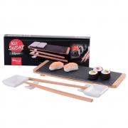 Kit Sushi 8 Peças com Hashi Molheira Suporte Tábua de Servir Wincy CED05016