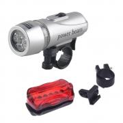 Lanterna e Luz Traseira para Bike 5 Leds WJ-101