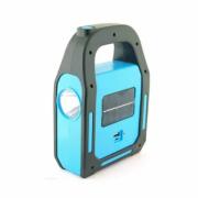 Lanterna Recarregável USB e Solar com Função Holofote Lanterna e Lampião