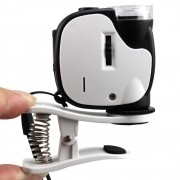 Lupa Microscópio Portátil 55x para Celular com LED UV TH-7004D