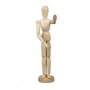 Manequim Articulado 21,5cm Boneco de Madeira para Desenho