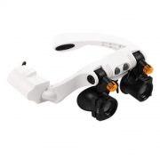 Óculos com Lupa de Aumento até 25x para Relojoeiro com Iluminação 2 LEDs 32225-21SX