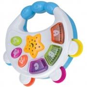 Pandeiro Musical Infantil com Luz e Sons Art Brink 65077