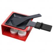 Raclete para Queijo Vermelha com 1 Panela de Derreter Queijo Haüskraft CJFN-019