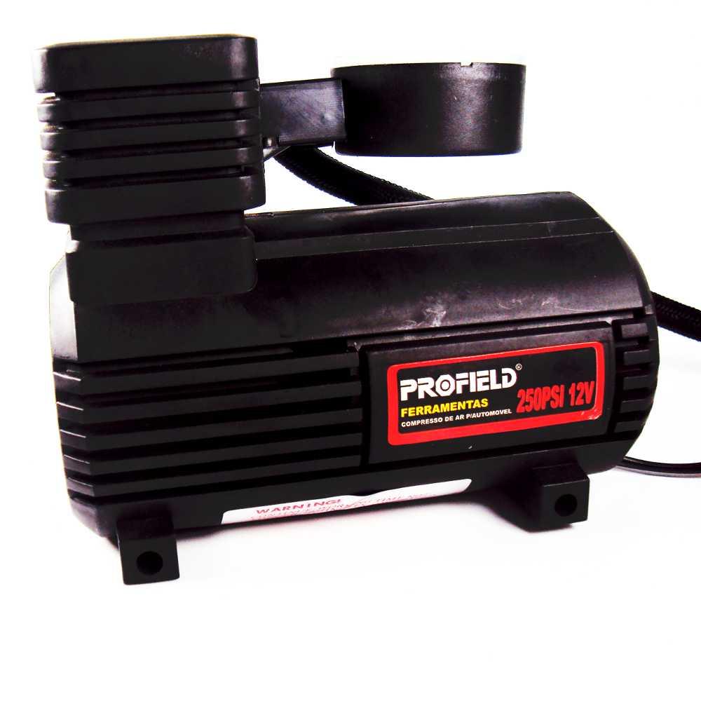 Mini Compressor de Ar Portátil 250 PSI para Pneus, Bolas e Infláveis Profield 01702250