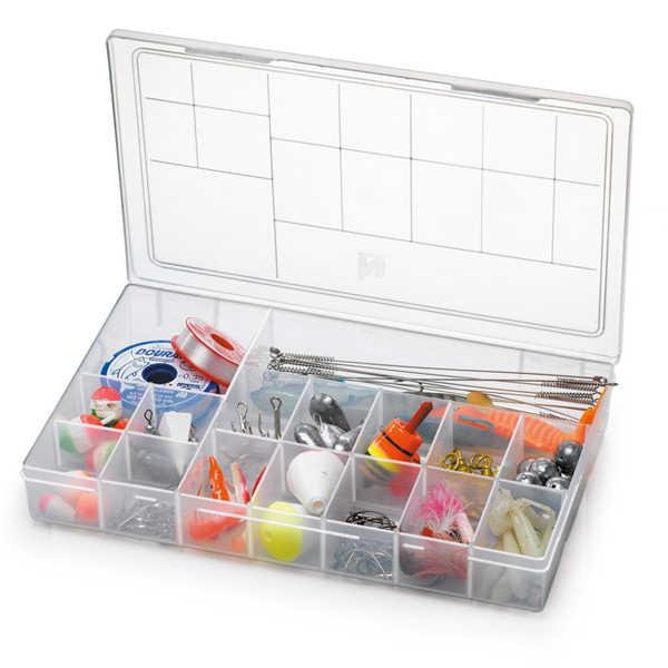 Caixa Organizadora Plástica com Tampa 16 Divisórias Nitron 106G