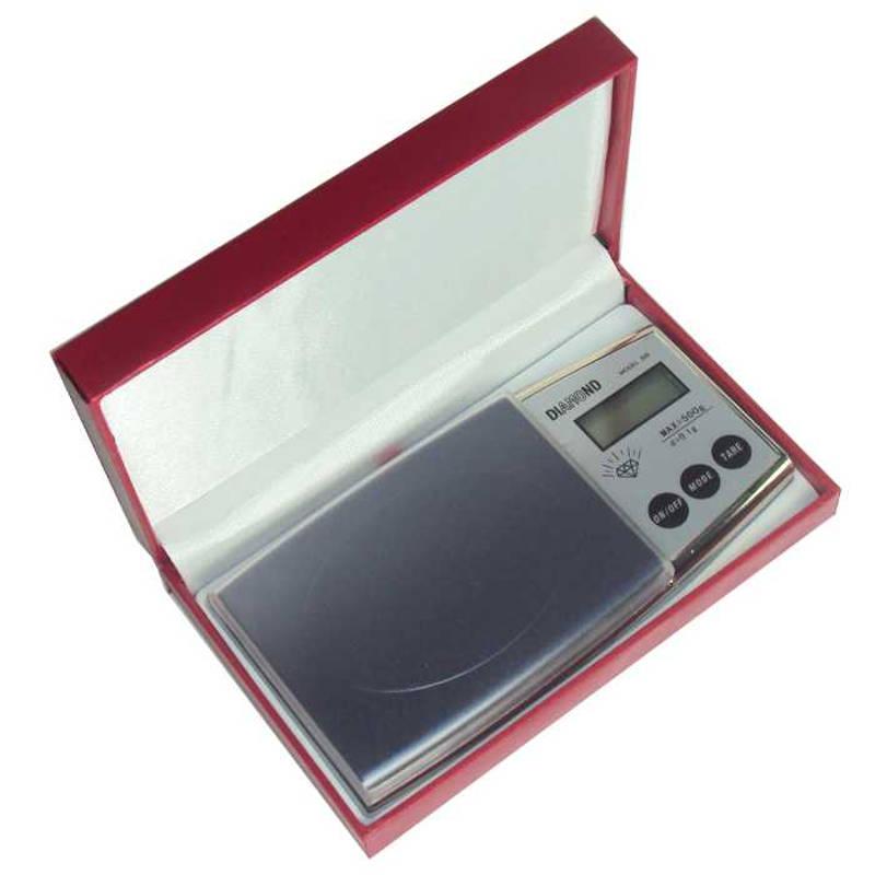 Balança Digital de Precisão 500g Escala de 0,1g Diamond 500