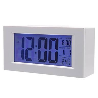 Relógio de Mesa Digital com Dígitos Grandes e Despertador Branco 820