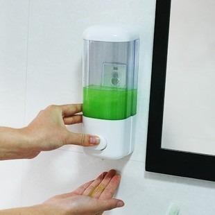 Saboneteira Porta Sabonete Líquido de Parede Em Acrílico Transparente Art House ZP697