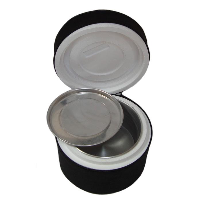 Marmita Térmica Em Alumínio Com Isopor e Capa em TNT Redonda Pequena N14