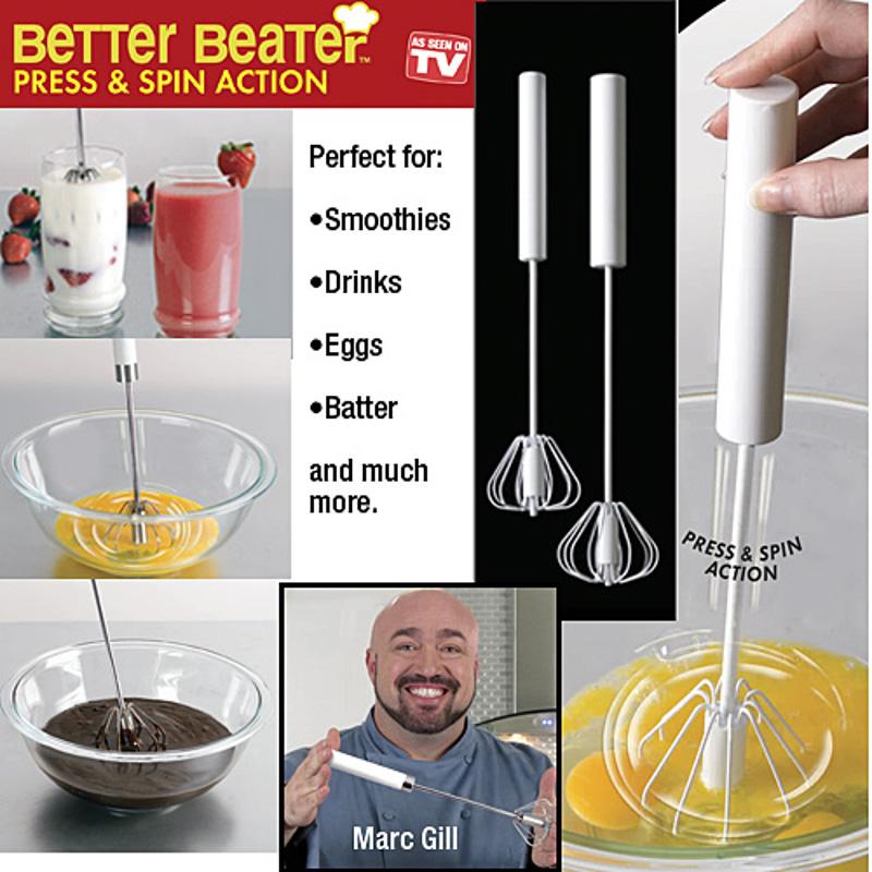 Kit com 2 Batedores de Ovos, Claras em Neve Sobremesas e Molhos Better Beater