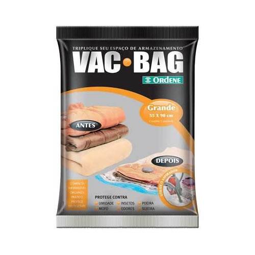 Saco a Vácuo Para Roupas Vac Bag Grande 55cm x 90cm Ordene OR55400