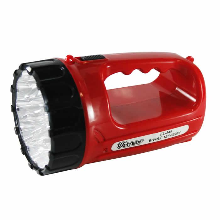 Lanterna Recarregável com 15 LEDs Bivolt (110V/220V) Western EL-344
