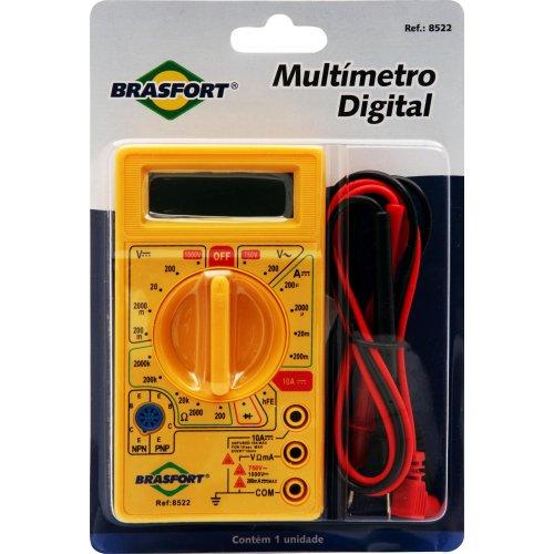 Multímetro Digital com Bip Acompanha Pontas de Prova Brasfort 8522
