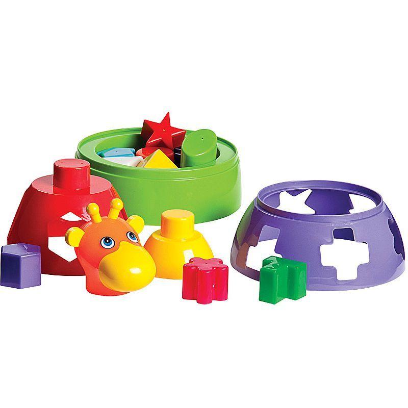 Girafa Didática Colorida com Blocos Geométricos de Encaixar Mercado Toys 291