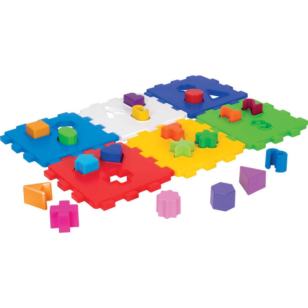 Cubo Didático Colorido com Blocos de Encaixar Mercado Toys 403