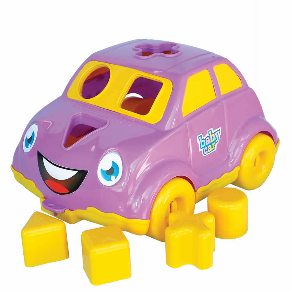 Carrinho Didático com Blocos de Encaixar BS Toys 151
