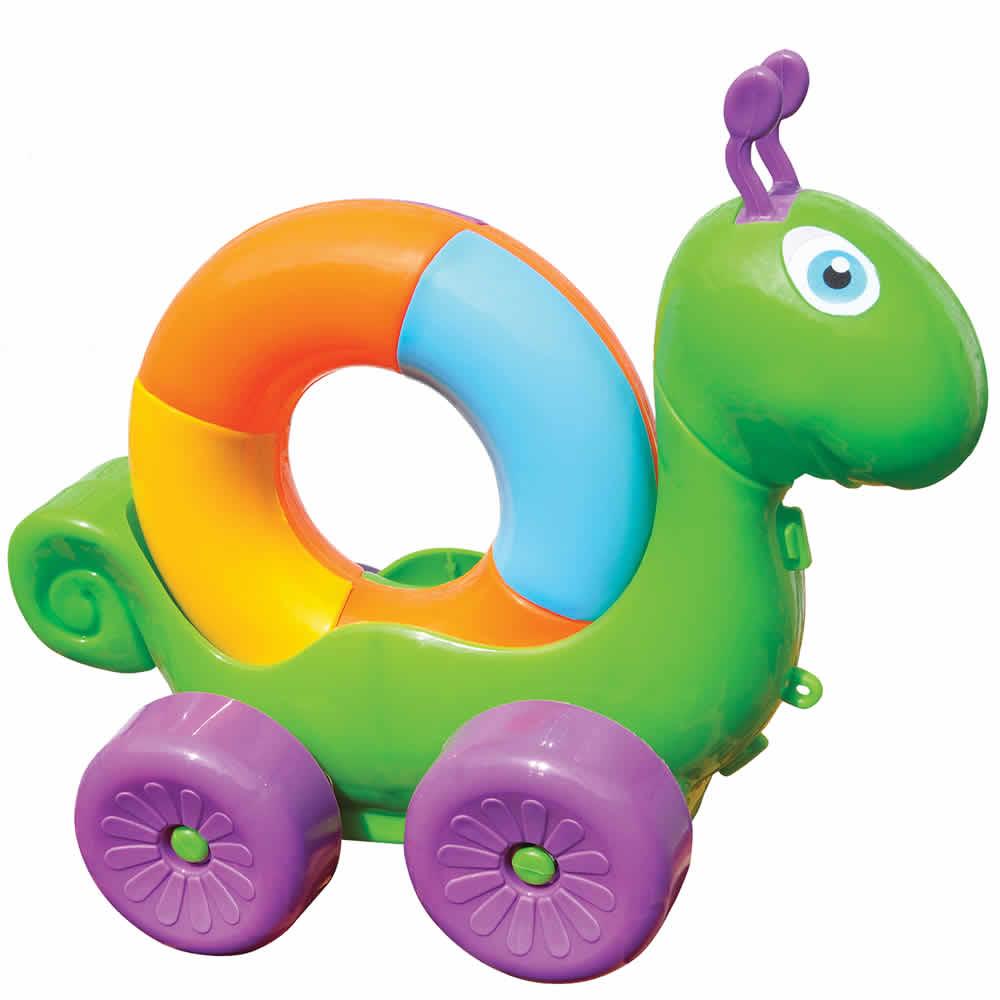 Caracol Didático Colorido com Rodinhas BS Toys 156