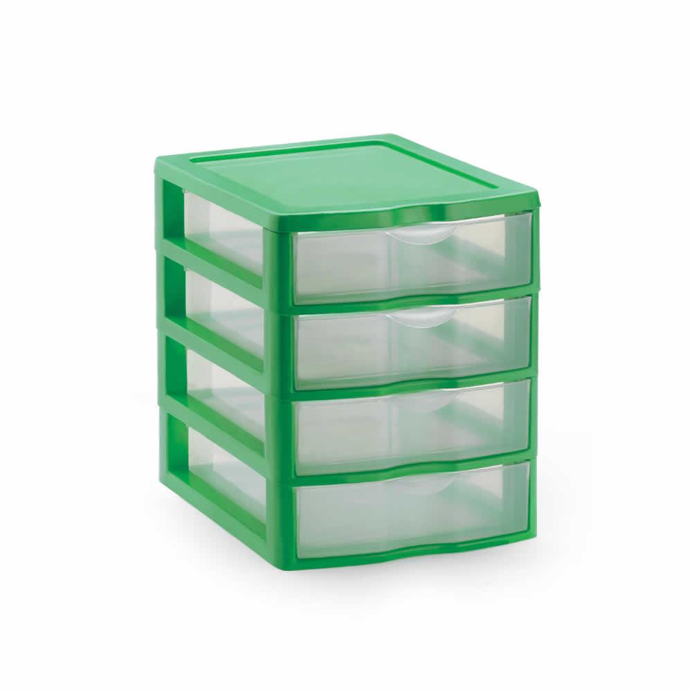 Gaveteiro Plástico Pequeno com 4 Gavetas Nitron 004/4
