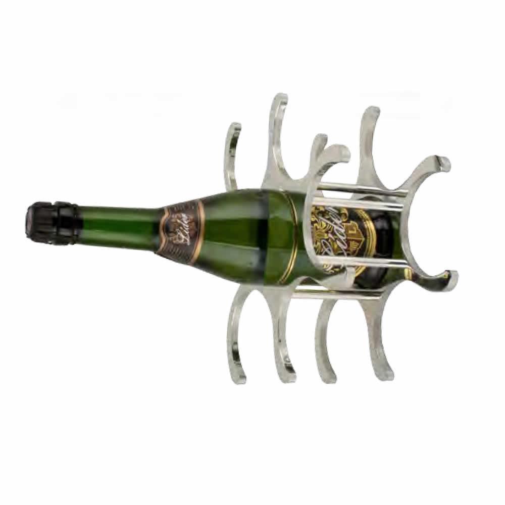 Adega para Vinhos 6 Garrafas em Inox Uny Home YK01