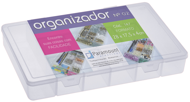 Caixa Organizadora com Divisórias Grande G Paramount 147
