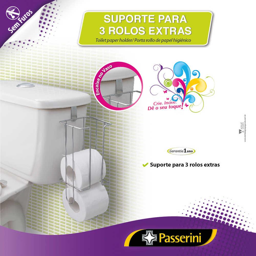 Suporte para Rolo de Papel Higiênico para Caixa Acoplada Passerini 373-7