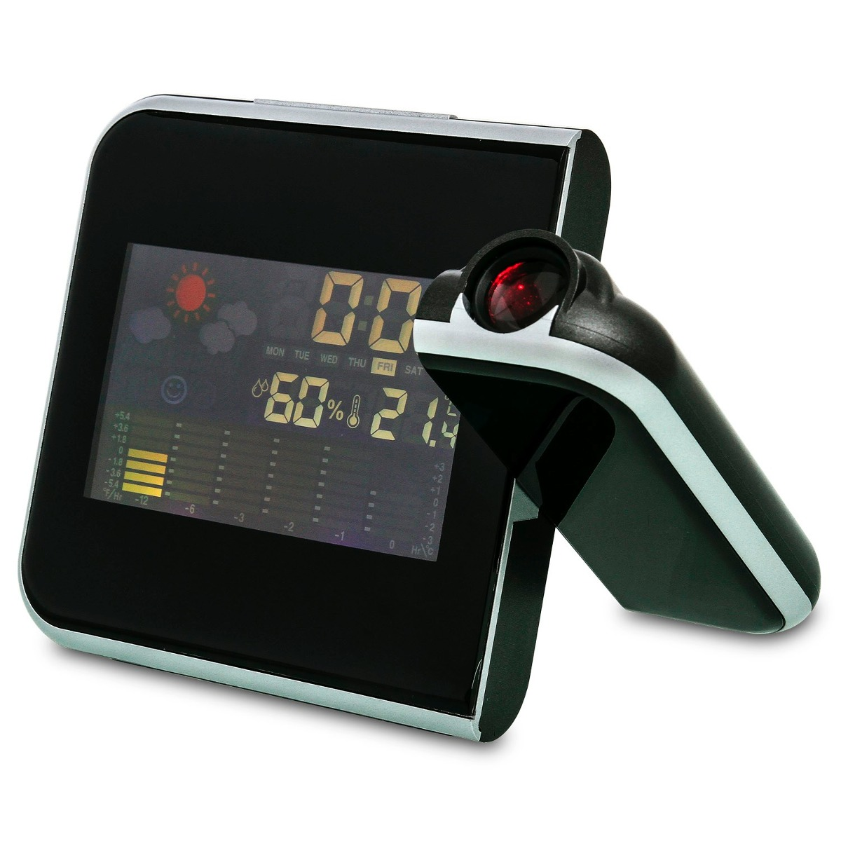 Relógio Despertador Digital com Projetor e Temperatura DS-8190