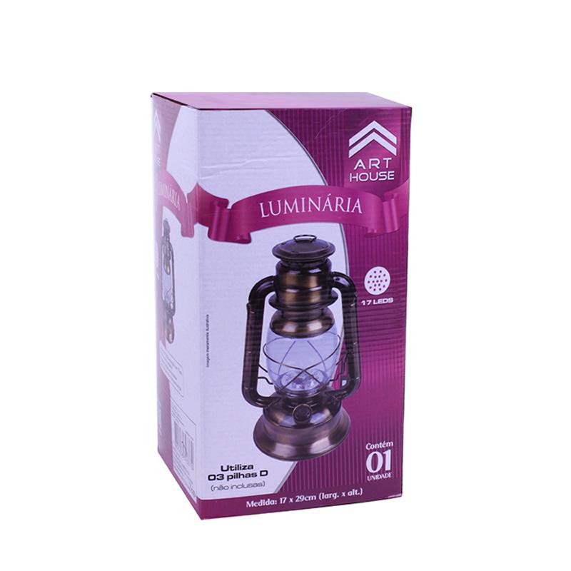 Lampião a LED com 17 Leds de Grande Luminosidade a Pilha Art House BS1185