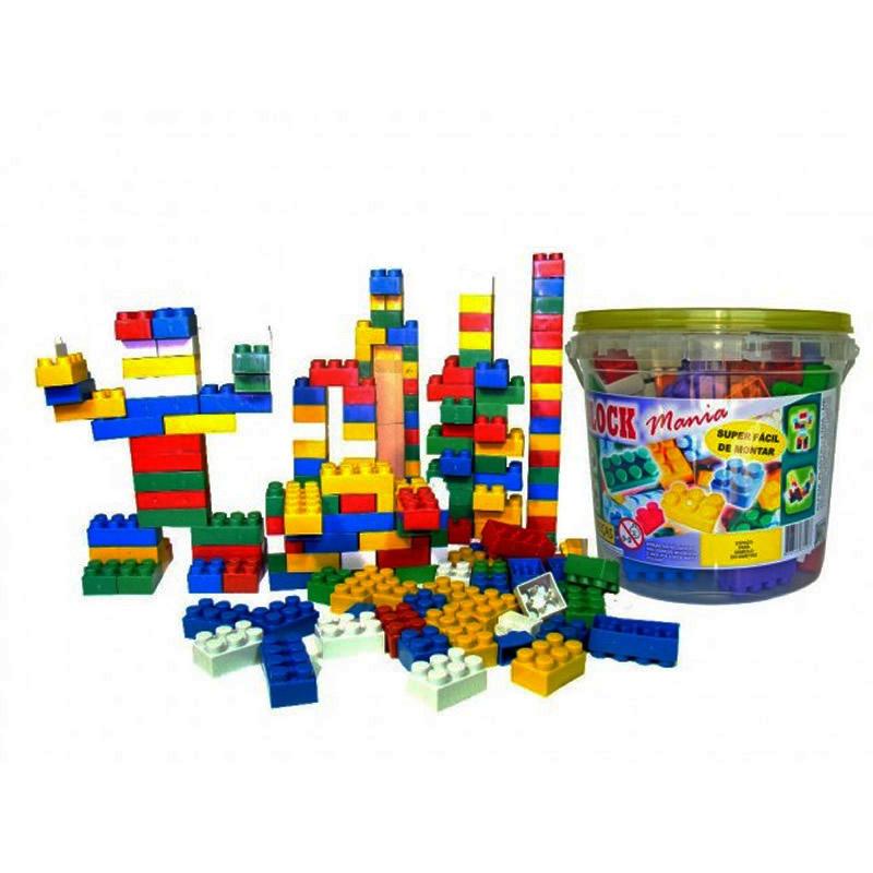 Blocos de Montar Block Mania com 156 Peças Alfem Plastic 7000